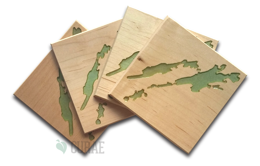 Buck Lake 2 Coaster Set - Curae