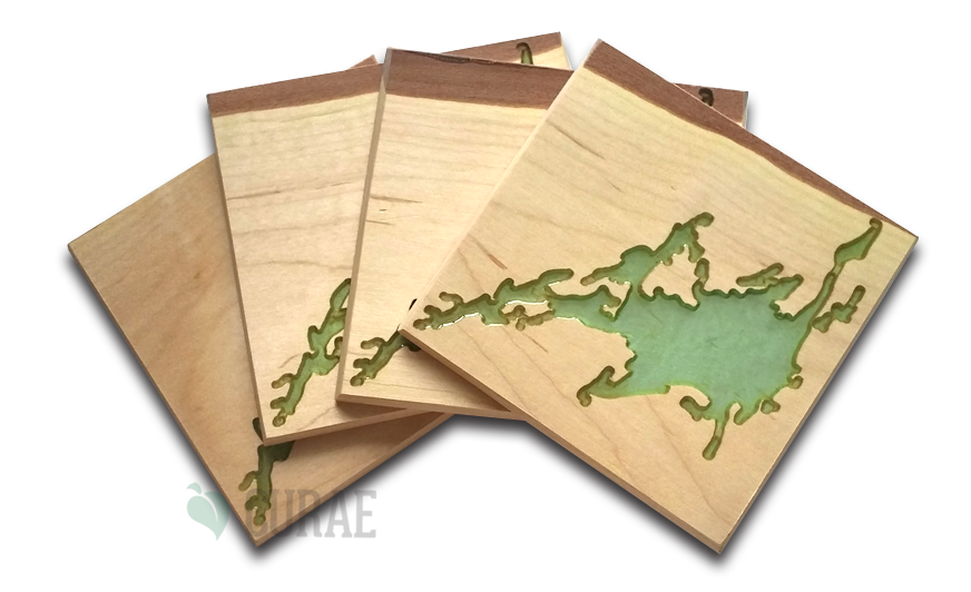 Devil Lake 1 Coaster Set - Curae