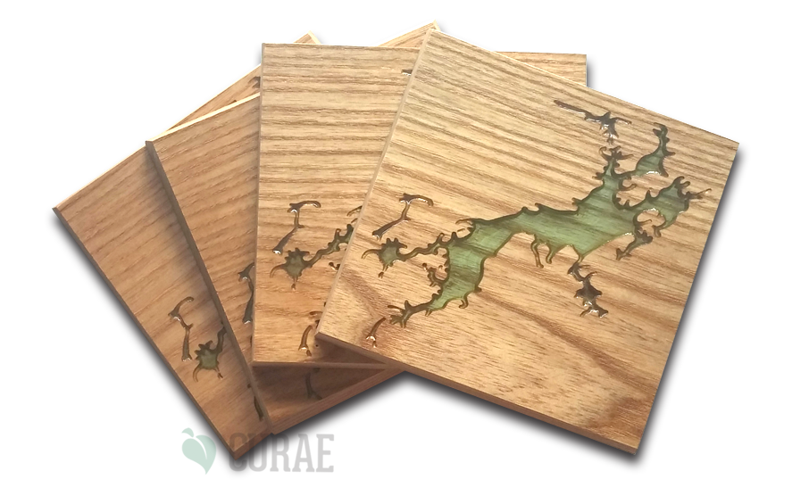 Otty Lake 3 Coaster Set - Curae