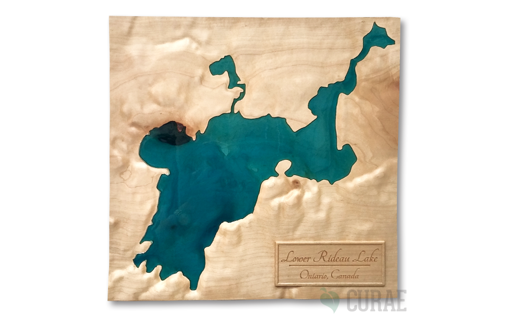 Lower Rideau Lake Topographic/ Bathymetric Map - Curae
