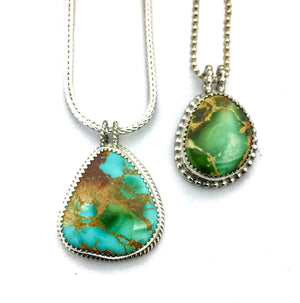 Royston Turquoise Pendants, American Turquoise Necklaces