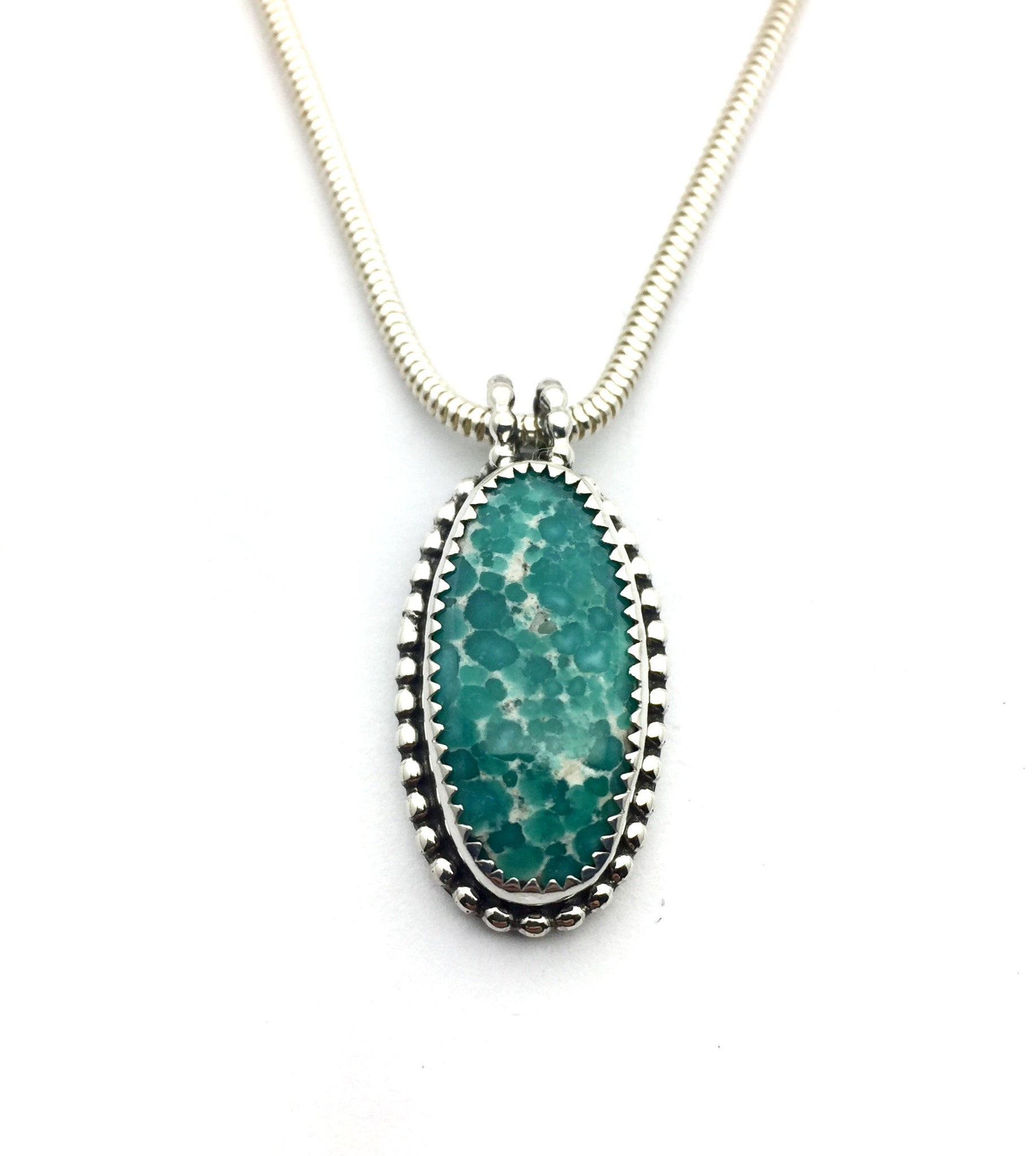 Turquoise Pendants in Sterling Silver, Royston and Whitewater Necklaces