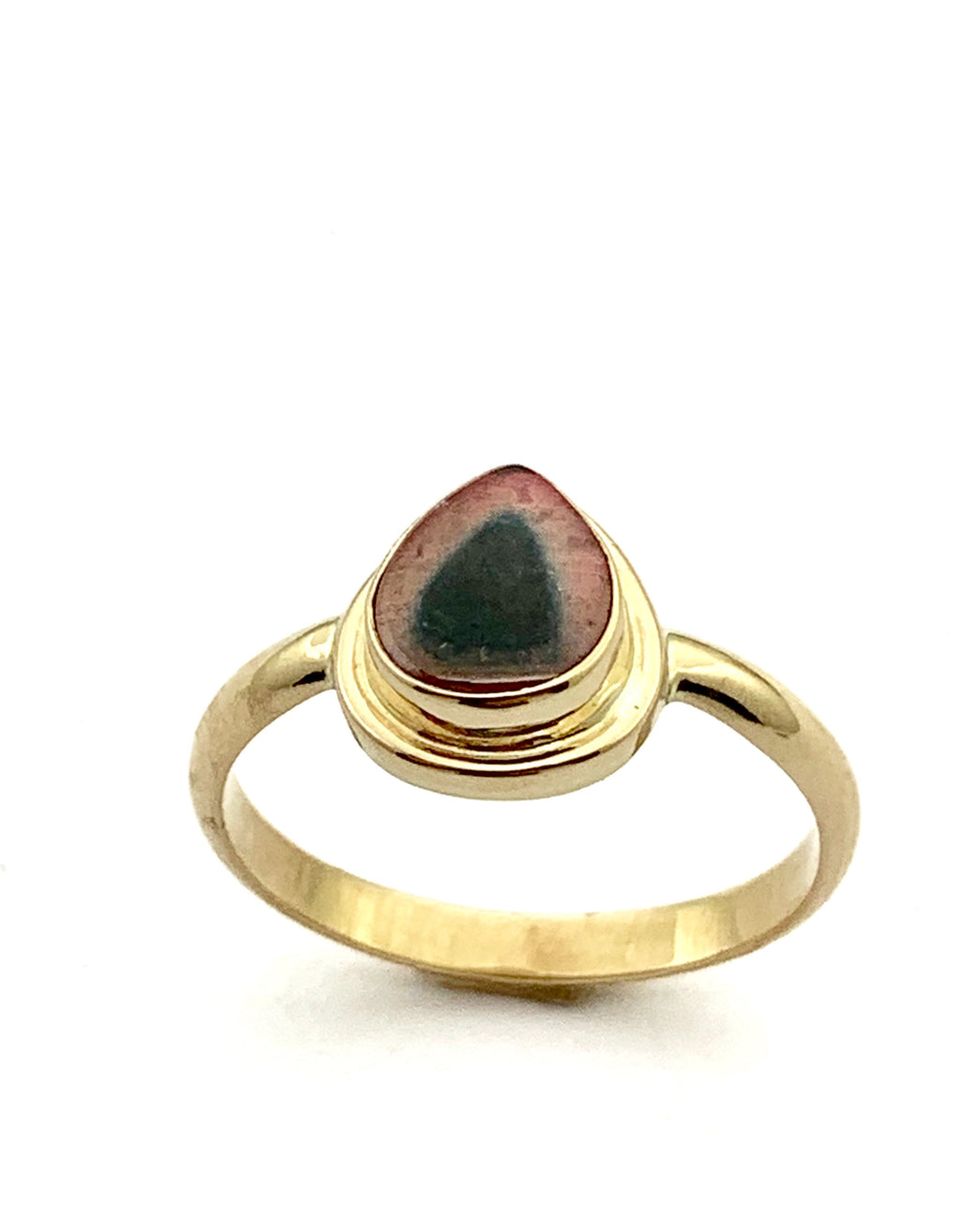 Watermelon Tourmaline Ring in 14k Gold,October Birthstone Ring, Tourmaline Statement Ring, Womens Gold Ring With Gemstone, Stacking ring