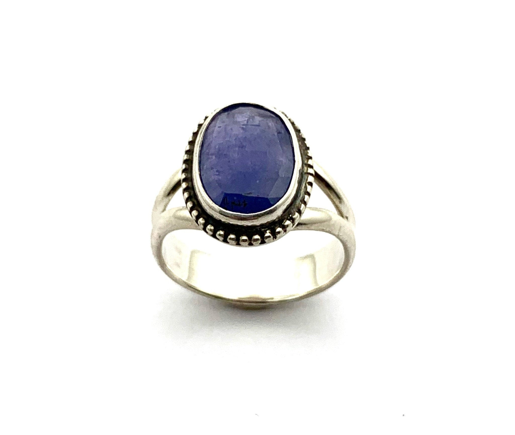 Tanzanite Ring in sterling silver, Rose Cut Tanzanite Jewelry, December birthstone
