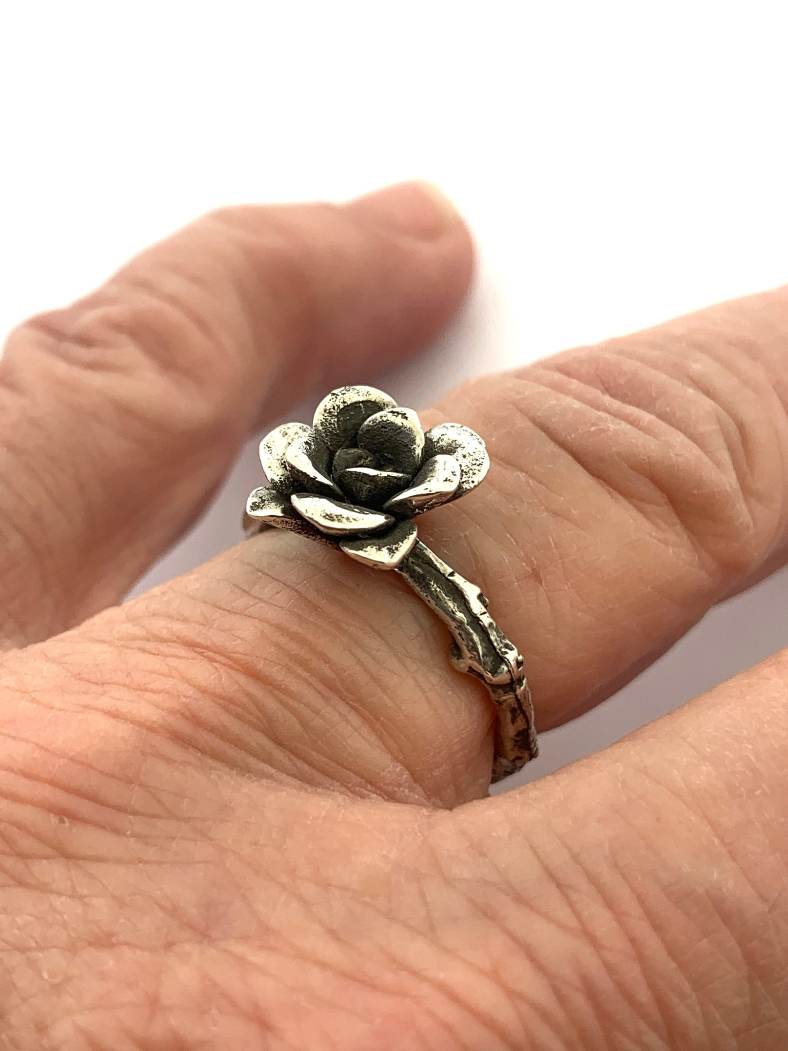 Flower Rings, Sterling Silver Garden Rings, Natural Flower Rings, Nature Lover Jewelry, OOAK Statement Rings, Mothers Day Gifts