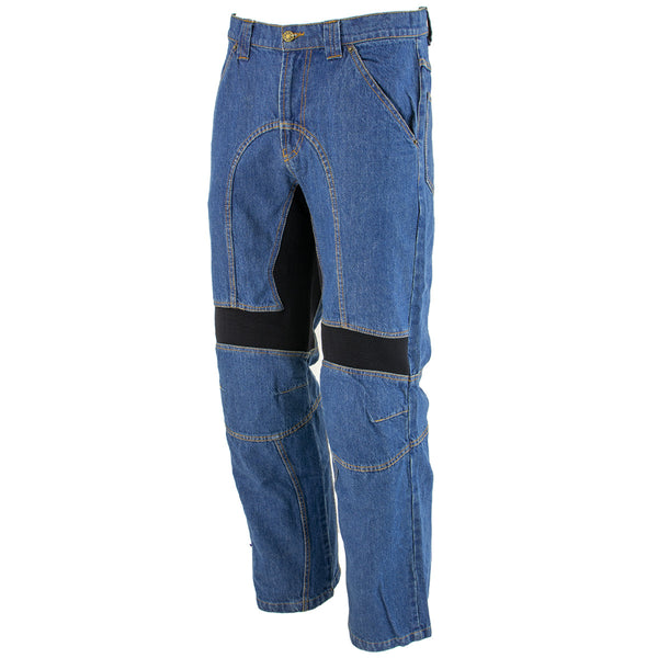 Xelement 055029 Mens Classic Fit Blue Denim Motorcycle Racing Pants with X-Armor - Xelement Mens Denim Pants