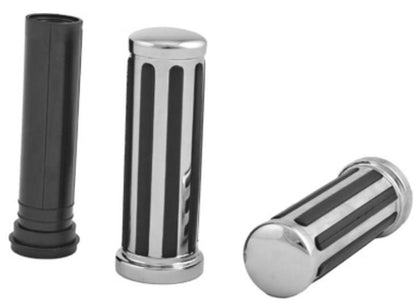 HardDrive Rail Style Black Grips with Smooth End Caps for Harley Davidson 2008-2014 FLT models