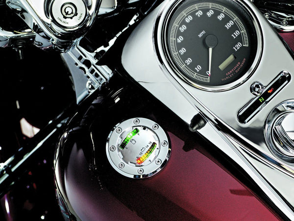 Kuryakyn The Informer L.E.D. Fuel and Battery Gauge for Harley Davidson 1988-20 - N/A