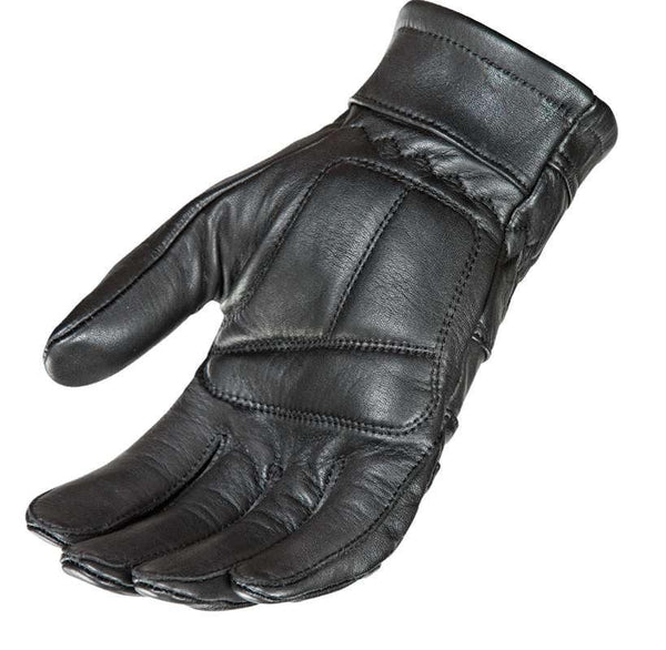 Joe Rocket Men's 'Classic' Thick Fit Black Leather Motorcycle Gloves - N/A