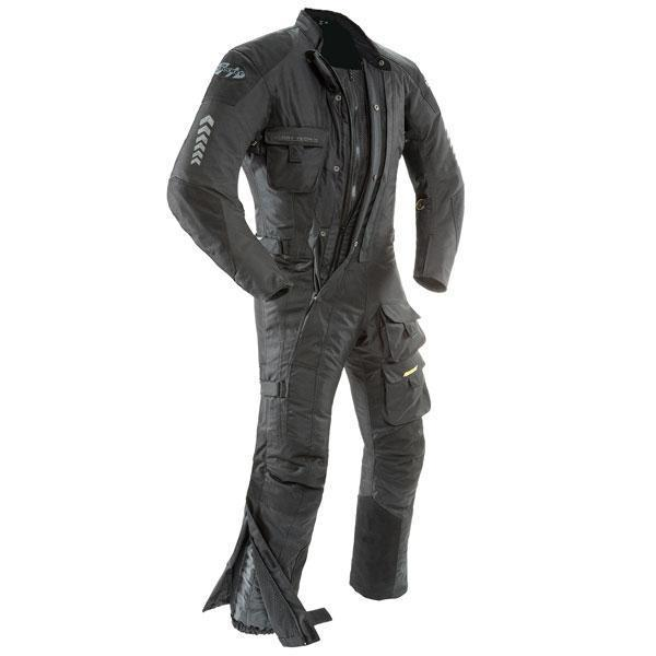 Joe Rocket Survivor Mens Black Textile Riding Suit