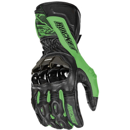 Joe Rocket 'Flexium TX' Mens Green/Black Leather Motorcycle Gloves