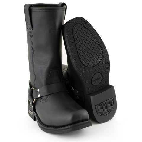 """Brand New  Men/'s Harness Boots Motorcycle Biker 6/"""" Leather Riding Black Brown"""