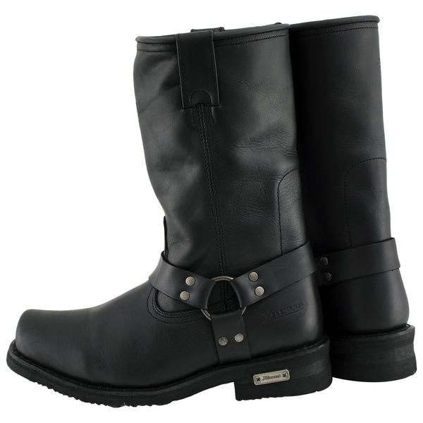 Xelement 1444 'Rubble' Men's Black Harness Motorcycle Biker Boots - Xelement Mens Footwear