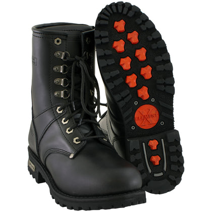 Xelement 1446 'Vigilant' Men's Black Logger Boots with Inside Zipper - Xelement Mens Footwear
