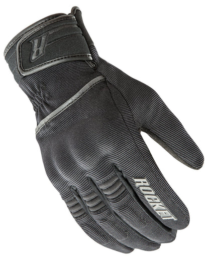 Joe Rocket 'Resistor' Mens Black Textile Motorcycle Gloves - N/A