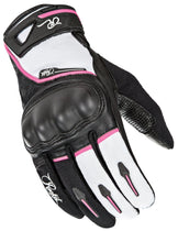 Joe Rocket Super Moto Women's Black/White/Pink Leather/Textile Gloves