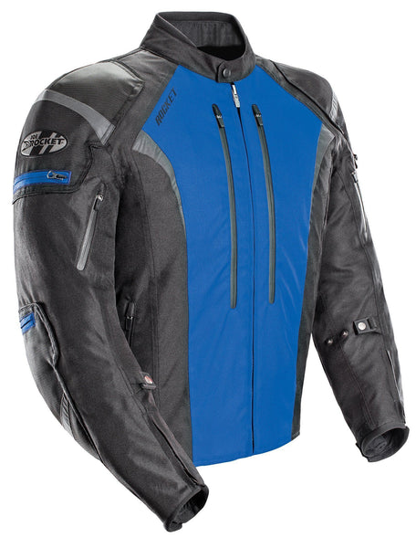 Joe Rocket Atomic 5.0 Men's Black And Blue Textile Jacket - N/A