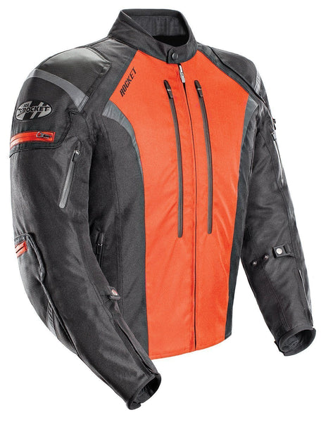 Joe Rocket Atomic 5.0 Men's Black And Orange Textile Jacket - N/A
