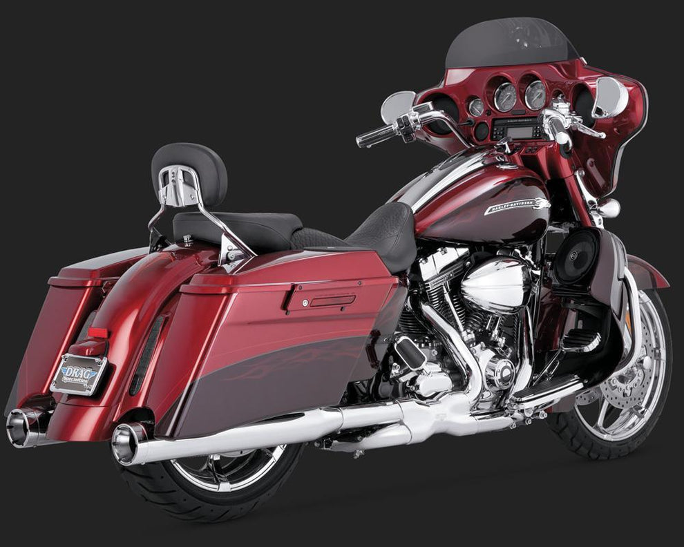 Vance and Hines Monster Round Catalytic Slip-On Exhaust for Harley Davidson 2007-2015 Touring models