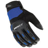 Joe Rocket Men's Velocity 3.0 Black and Blue Textile Gloves with Reinforce Knuckle and Fingers - Joe Rocket Textile Gloves