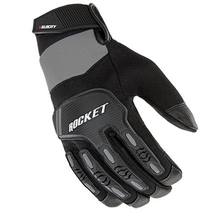 Joe Rocket Men's Velocity 3.0 Black and Silver Textile Gloves with Reinforce Knuckle and Fingers - Joe Rocket Textile Gloves