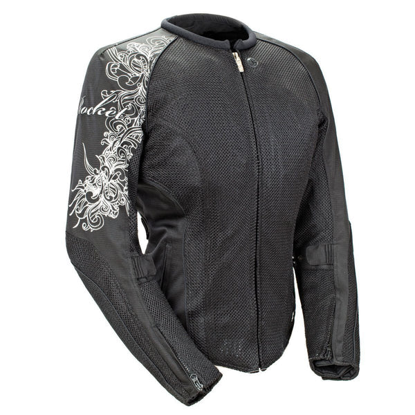 Joe Rocket 'Cleo 2.2' Womens Black Mesh Motorcycle Jacket - N/A