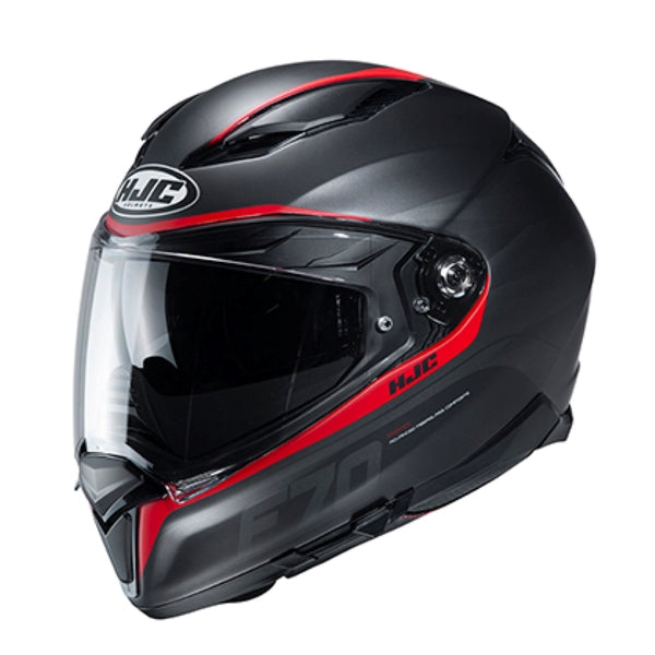 HJC F70 Feron Black and Red Full Face Helmet - HJC Full Face Helmets