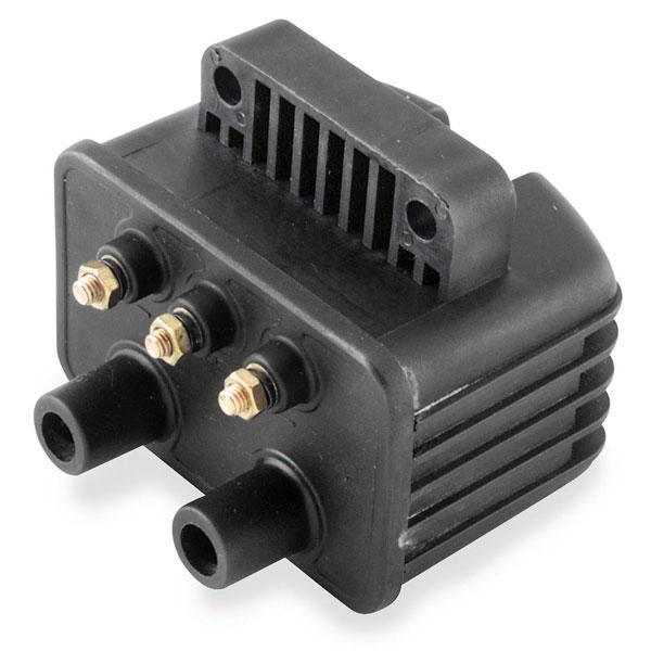Twin Power Black Ignition Coil for Harley Davidson 1980-99 Big Twin models with Single Fire Dual Coil Output