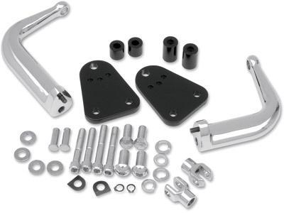 Bikers Choice Adjustable Highway Peg Support Kit for 2004-2010 Harley Davidson