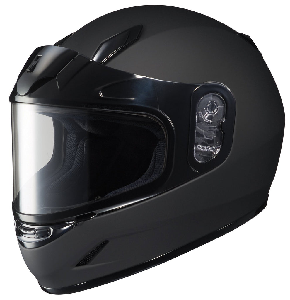 HJC CL-Y Youth Matte Black Snowmobile Helmet with Dual Lens
