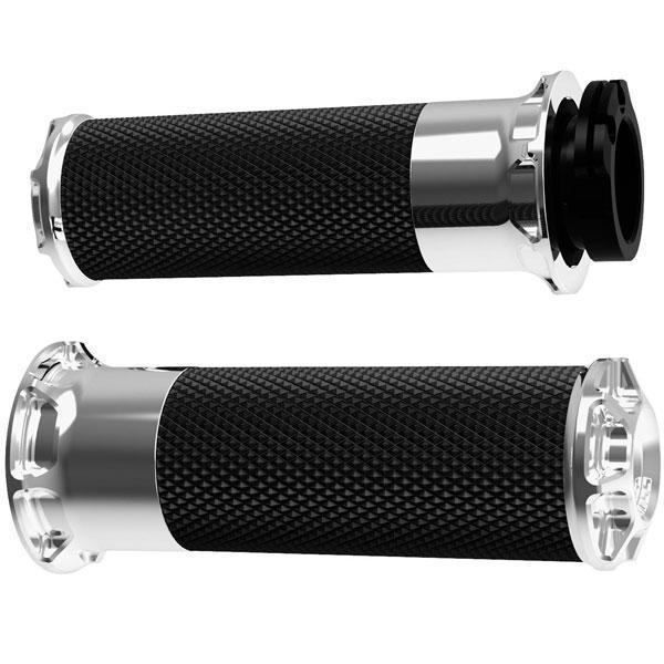 Arlen Ness Fusion Series Cable Style Beveled Grips for all Harley Davidson 1984-2013 models (exc. 2008-13 FLH, FLT) - N/A