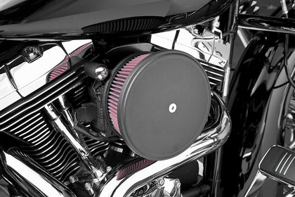 Arlen Ness Stage II Billet Sucker Air Filter Kit with Smooth Steel Cover for Harley Davidson 1993-2000 Evo Big Twin - N/A