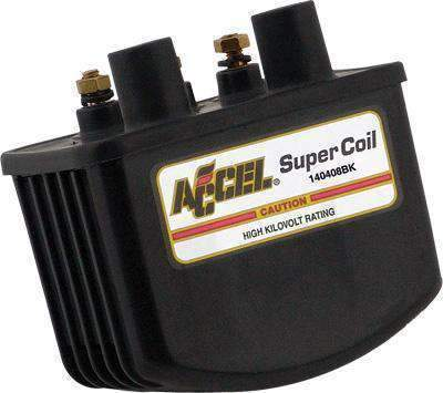 Accel 3.0 Ohm Single Fire Super Coil for Harley Davidson 1936-2006 Twin Cam models - N/A