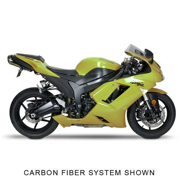Two Brother V.A.L.E. M-2 Small Oval Carbon Fiber Kawasaki Street Bike Complete Exhaust System