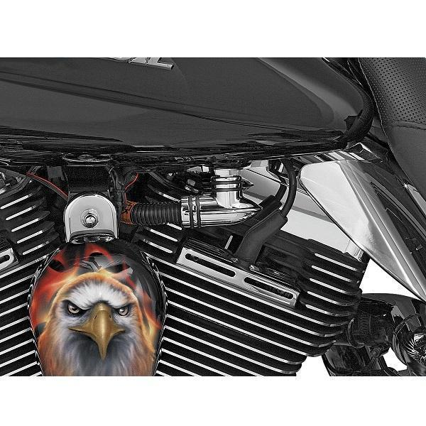 Kuryakyn Fuel Line Fitting Cover for Harley Davidson 2001-2014 Softail, Dresser models - N/A