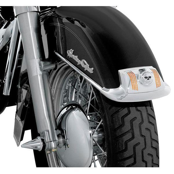 Kuryakyn Front and Rear Fender Tip Lights Lens Grills for 1980-2013 Harley Davidson Electra Glide, Tour Glide, FLST models