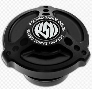 Roland Sands Design Radial Black Ops Gas Cap for Harley Davidson L1996-2014 models