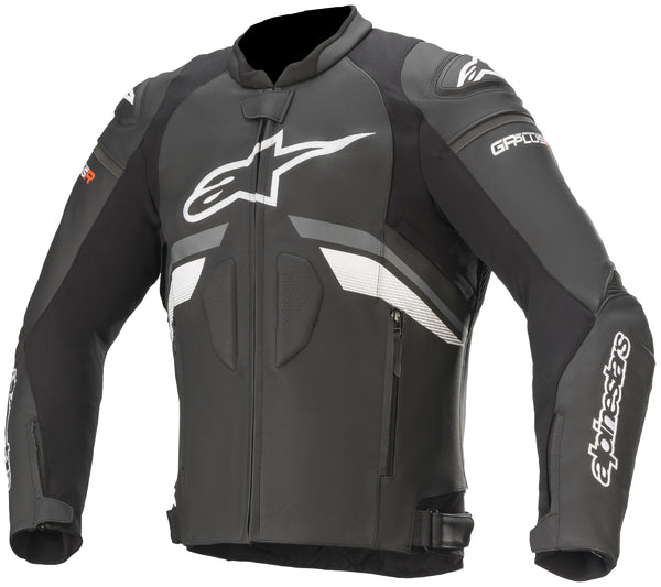 Alpinestars Men's GP Plus R v3 Black, Grey and White Leather Jacket - Alpinestars Jackets