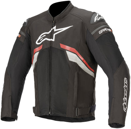 Alpinestars Men's T-GP Plus R v3 Airflow Black and Red Textile Jacket