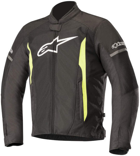 Alpinestars Men's T-Faster Air Black and Fluorescent Yellow Textile Jacket - Alpinestars Jackets
