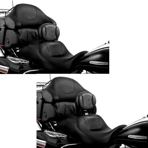 Kuryakyn Plug-In Driver Backrest for Harley Davidson 1997-2013 Touring Models with 1-Piece Slotted Seats (exc. Trikes) - N/A