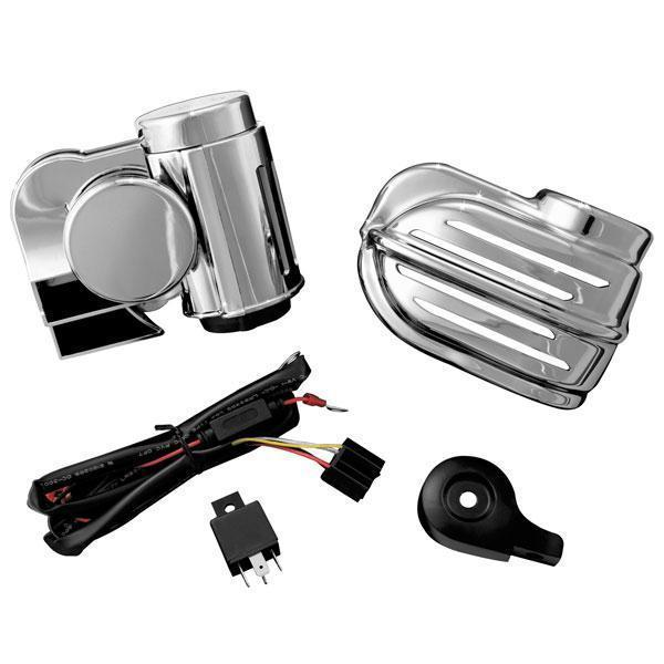 Kuryakyn Super Deluxe Wolo Bad Boy Horn for Harley Davidson 1992-2013 Road King, Electra Glide - Chrome