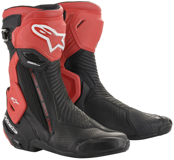 Alpinestars Men's SMX-PLUS v2 Vented Black and Red Boots - Alpinestars Boots