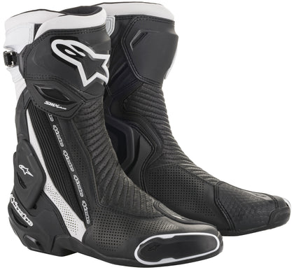 Alpinestars Men's SMX-PLUS v2 Vented Black and White Boots - Alpinestars Boots