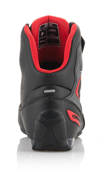 Alpinestars Men's Faster-3 Drystar Black, Grey and Red Riding Shoes - Alpinestars Shoes