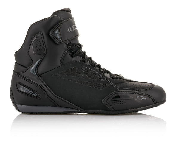 Alpinestars Men's Faster-3 Drystar Black and Grey Riding Shoes - Alpinestars Shoes