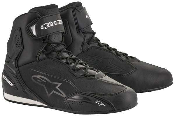 Alpinestars Men's Faster-3 Black with Black Logo Riding Shoes