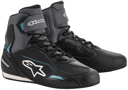 Alpinestars Women's Stella Faster-3 Black, Grey and Ocean Blue Riding Shoes - Alpinestars Shoes