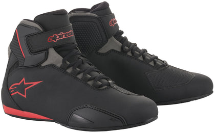 Alpinestars Men's Sektor Black, Grey and Red Riding Shoes - Alpinestars Shoes