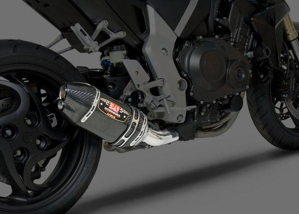 Yoshimura R-77D Polished Stainless Steel 3/4 Exhaust System with Carbon Fiber Tip - [product_type]